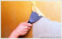 демонтаж покрытия стен