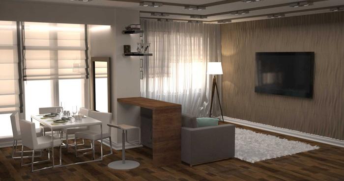 Перепланировка квартиры на ул.Батурина