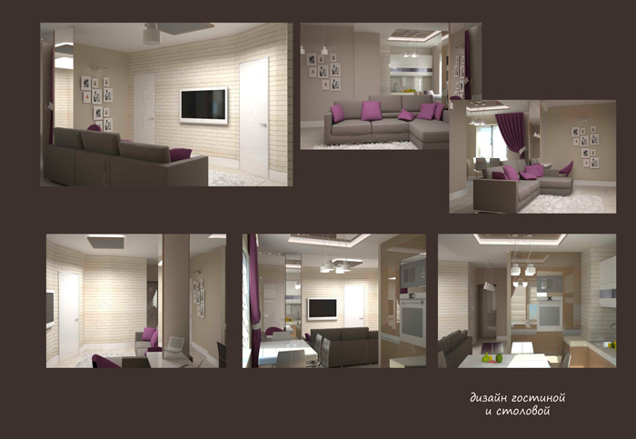 дизайн интерьера квартиры на ул.Батурина в Красноярске